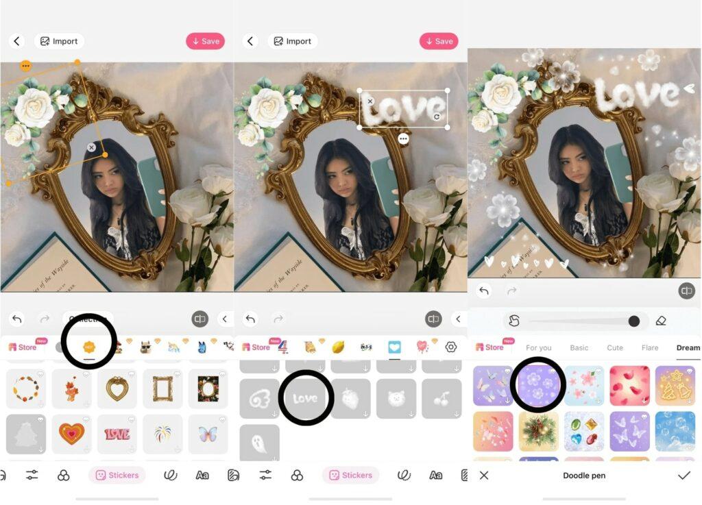 BeautyPlus editing tutorial for mirror selfie